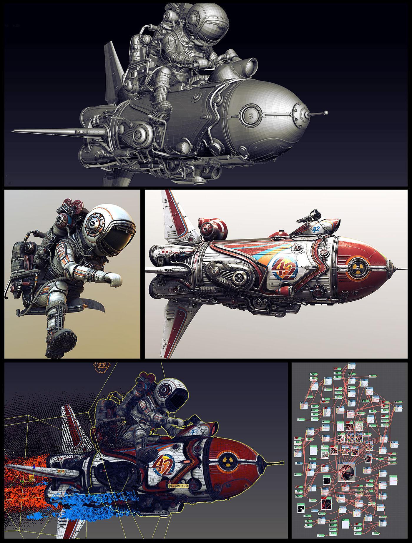 astronaut Space  rocket nuclear