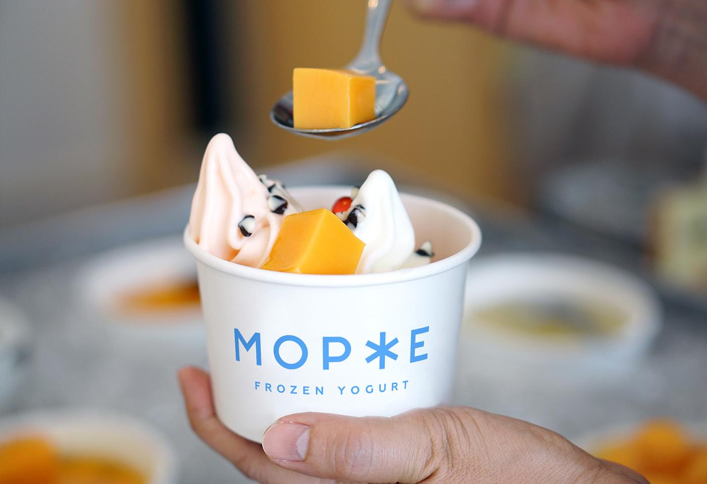 ice cream snowflake snow cold cafe yogurt place identity