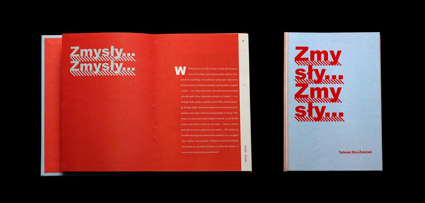 book book design graphic design  Layout printed publishing   essays Tadeusz boy-żeleński