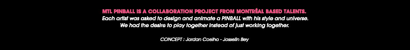 animation  2D collab pinball ILLUSTRATION  MoGraph motion design graphic visuals