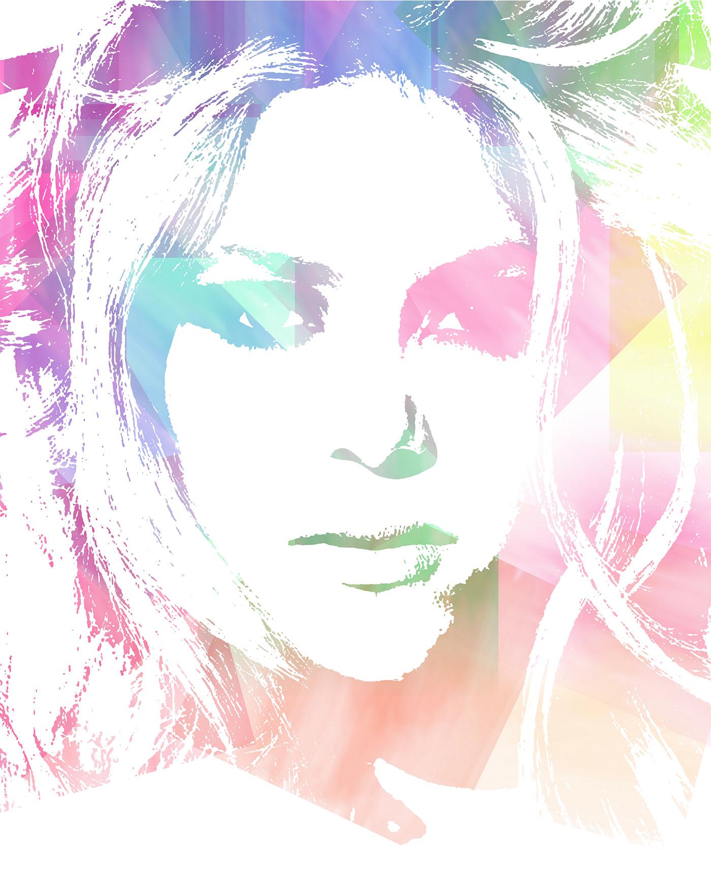 photoshop ritocco shakira musica illustrazioni disegno effetti filtri