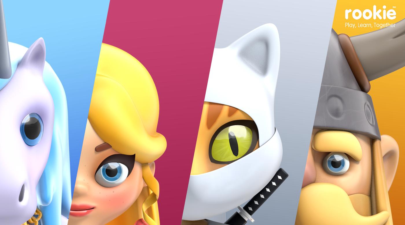 characters Super Hero Character game kids Mascot design ninja Princess Teddy viking Conceptdesign hipoly Render 3D