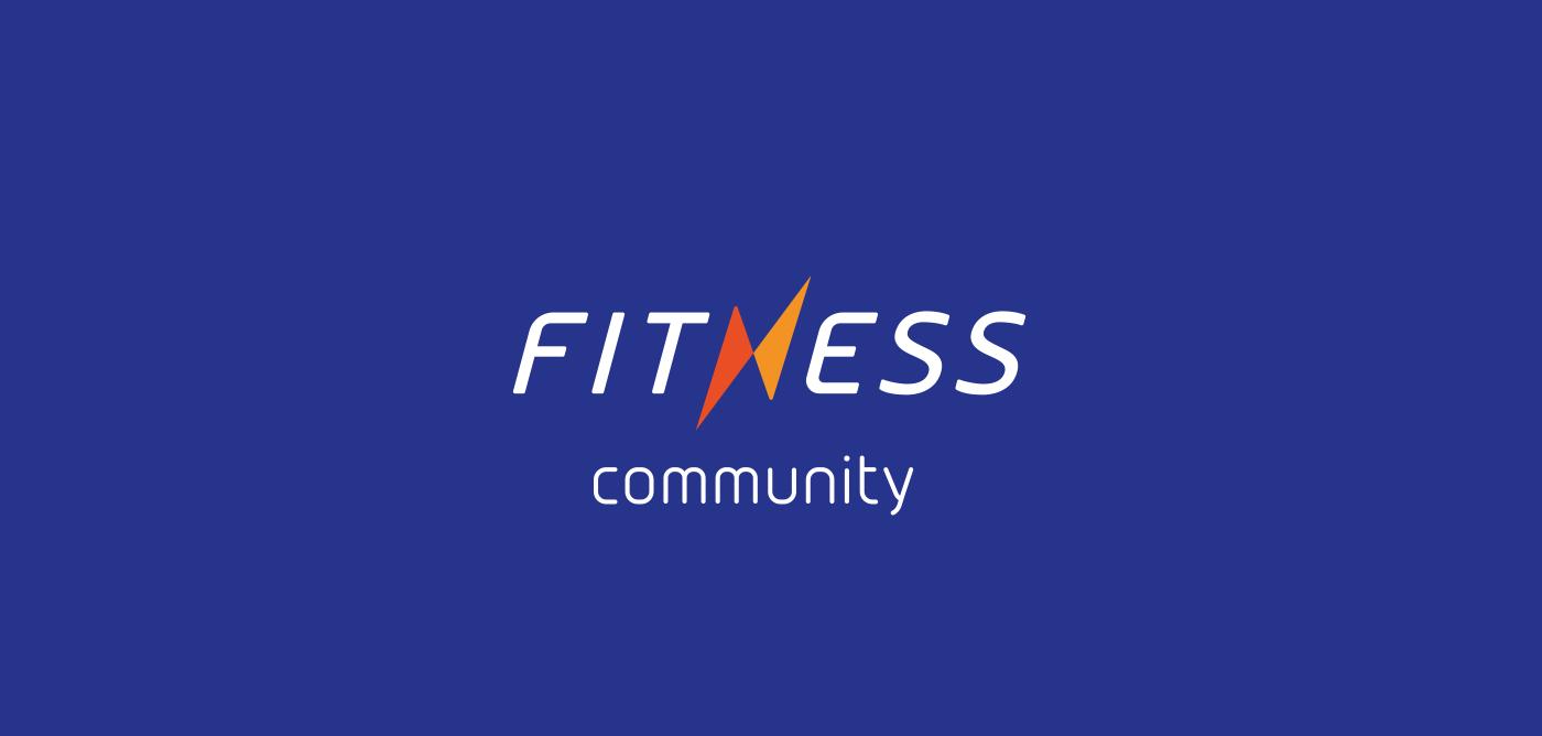 brand identity logo Logotype site Web fitness community sport