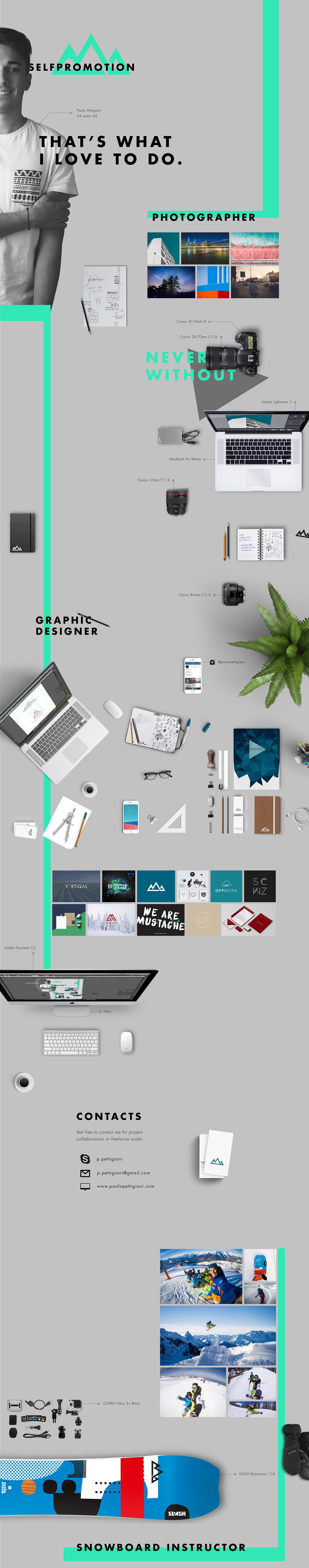 selfpromotion self Promotion free CV Resume template curriculum Vitae freebie creative minimal graphic Layout download