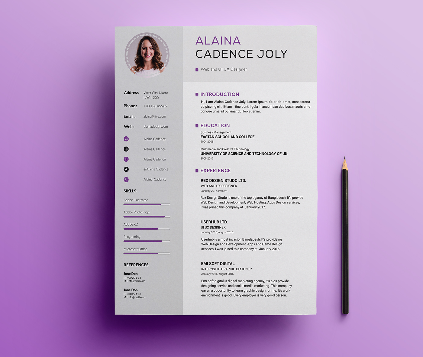 freebie clean  u0026 professional resume with cover letter on