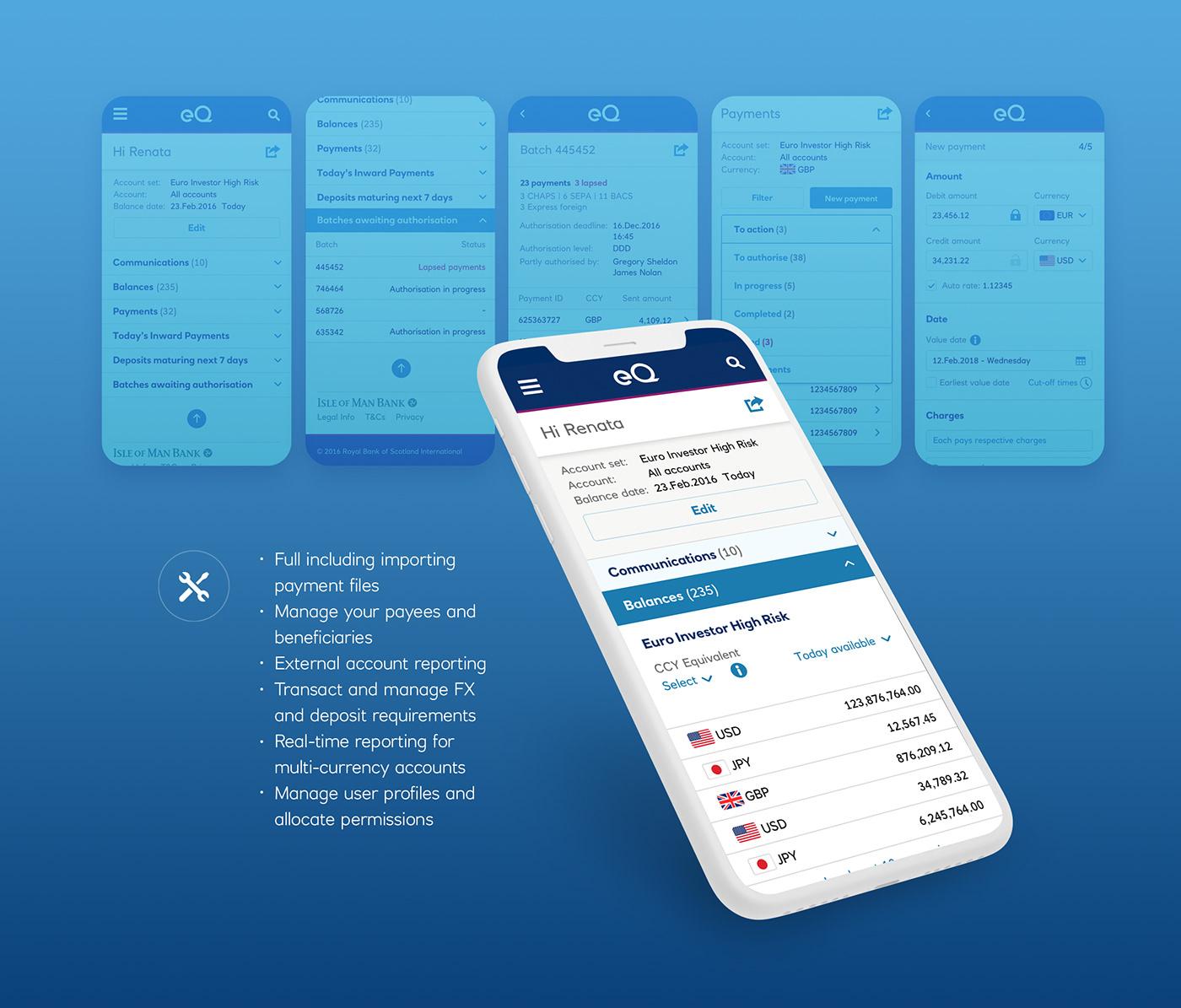 banking business finance fx mobile Platform Responsive UI UX design visual design