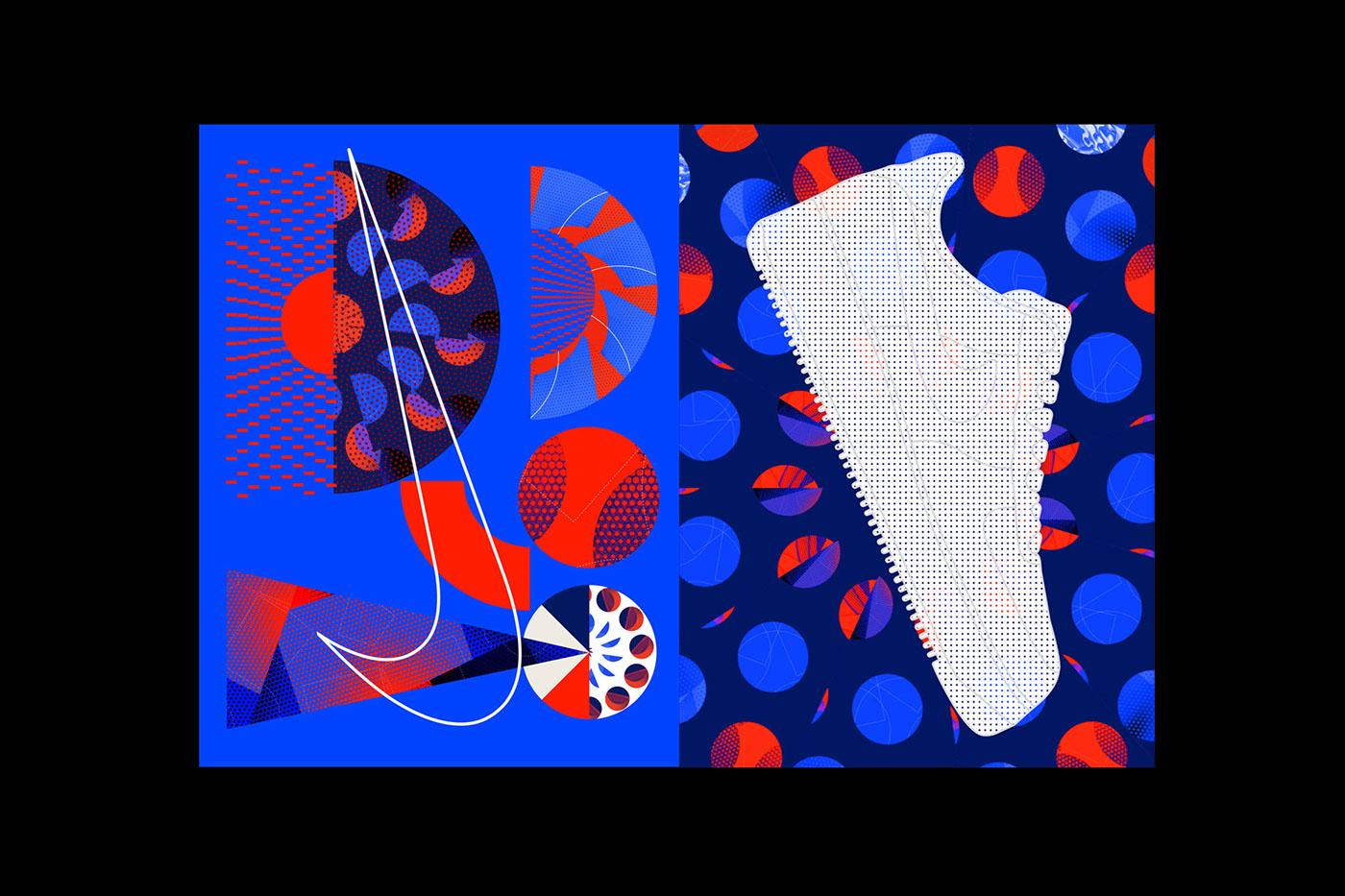 poster Nike colorful sports sport basketball pattern