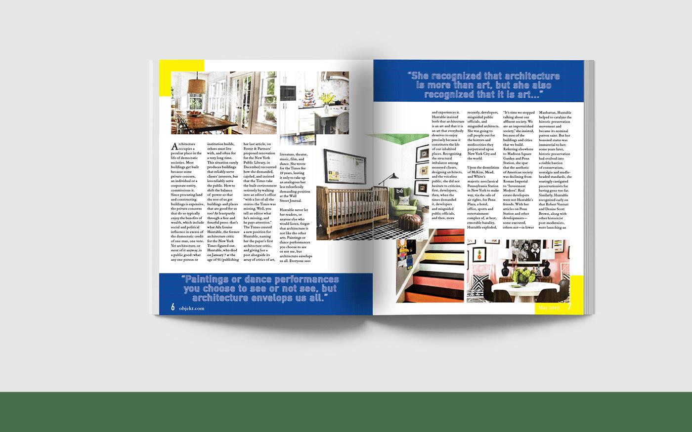 architecture editorial design  graphic design  magazine