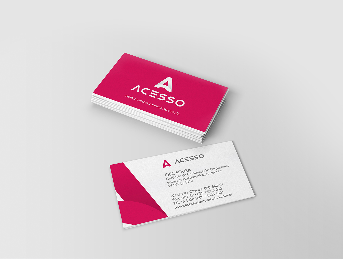 Acesso Comunicação Tiago Rosa Sorocaba redesign rebranding identidade visual identidade corporativa comunicação Comunicação Interna rosa Acesso logo