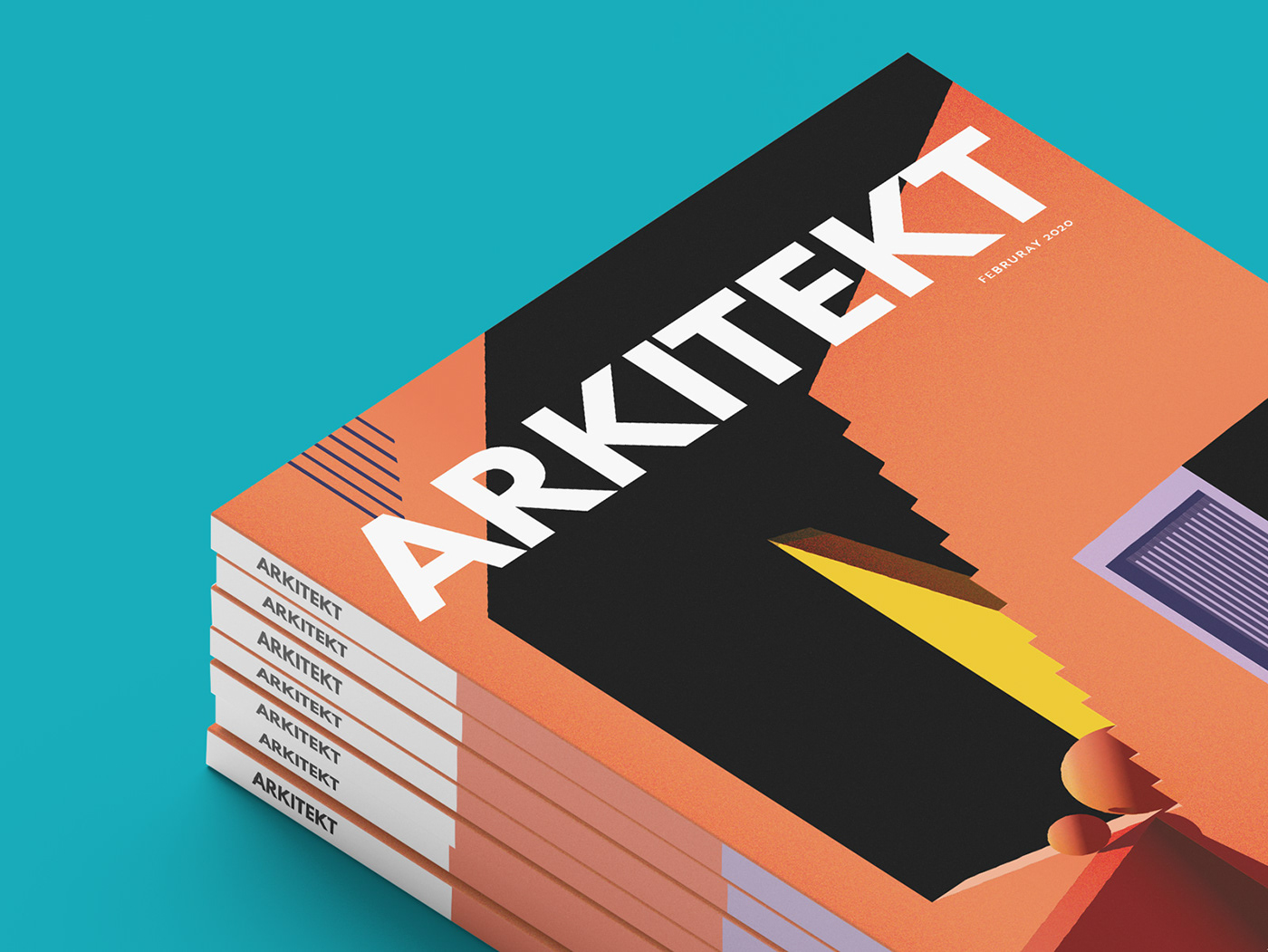 Magazine cover & vector illustration