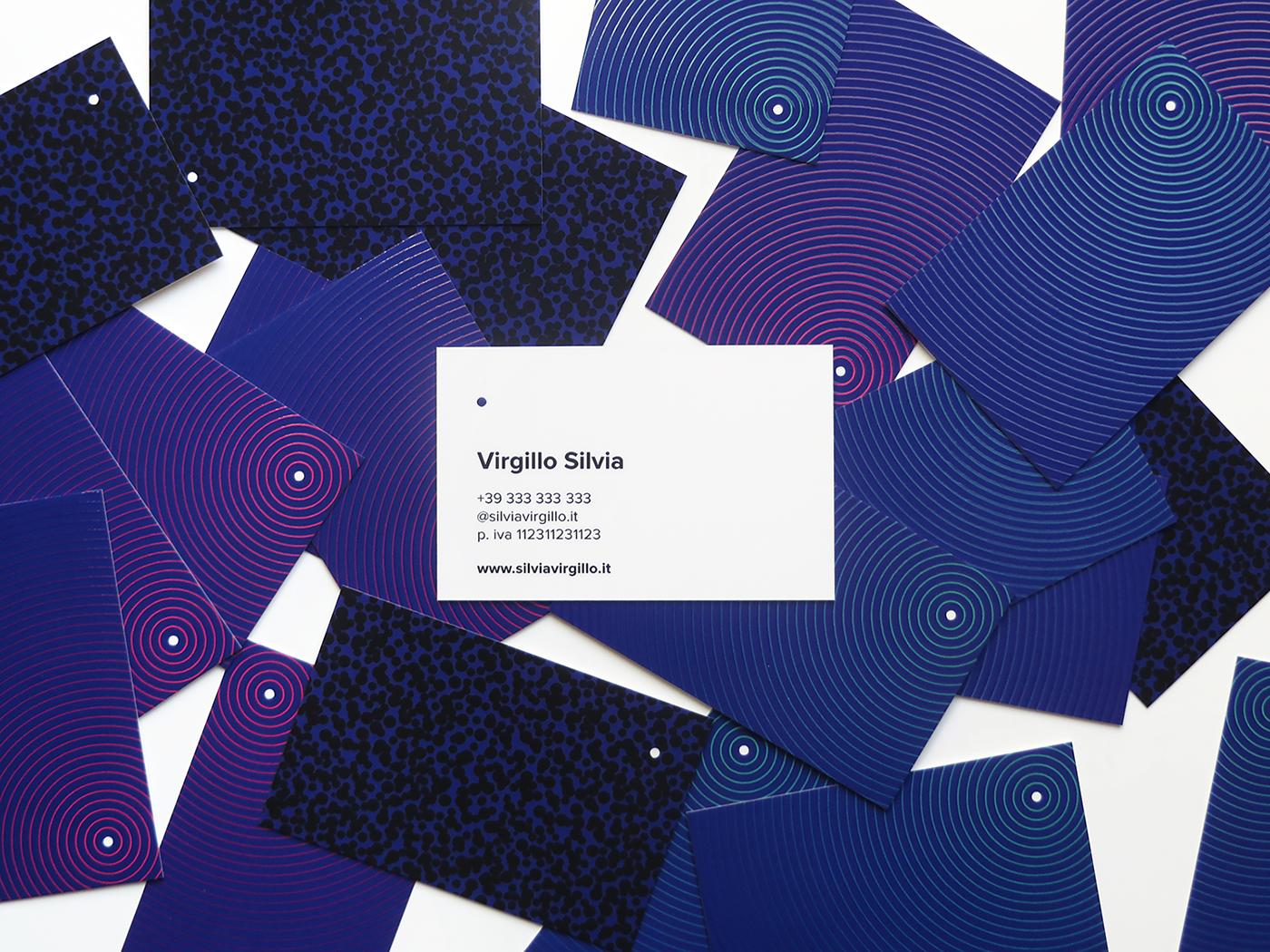 virgillo puntuale silvia virgillo business card BV Varnish UV coloured raised spot gloss