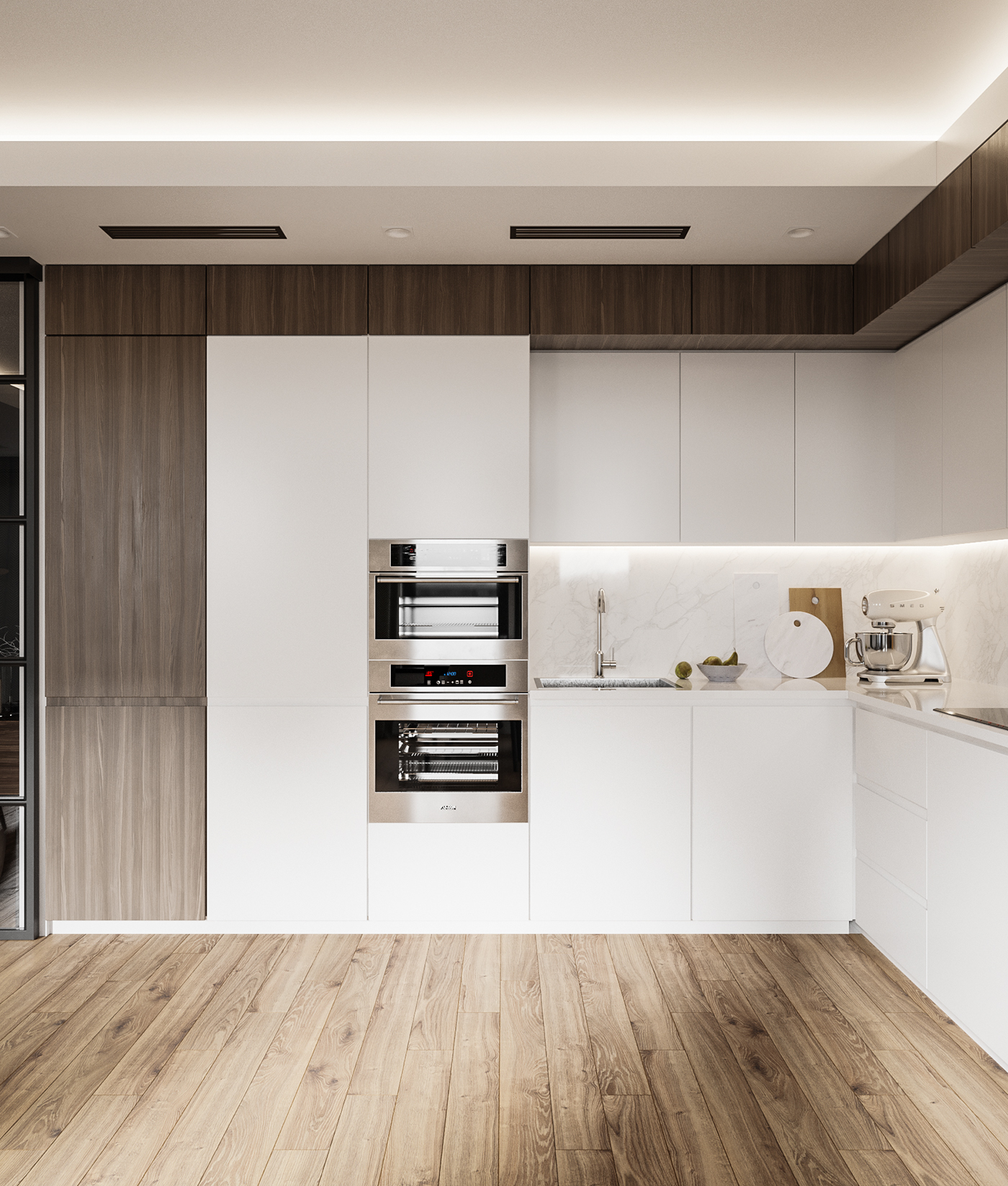 Apartment In Minimalist Style On Behance