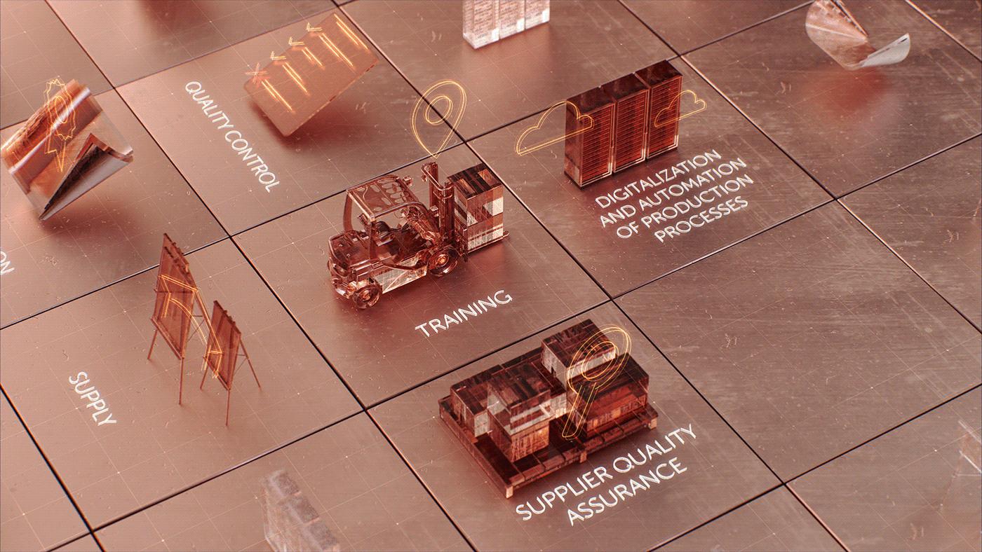 car factory map MoGraph Motion Camera roboarm