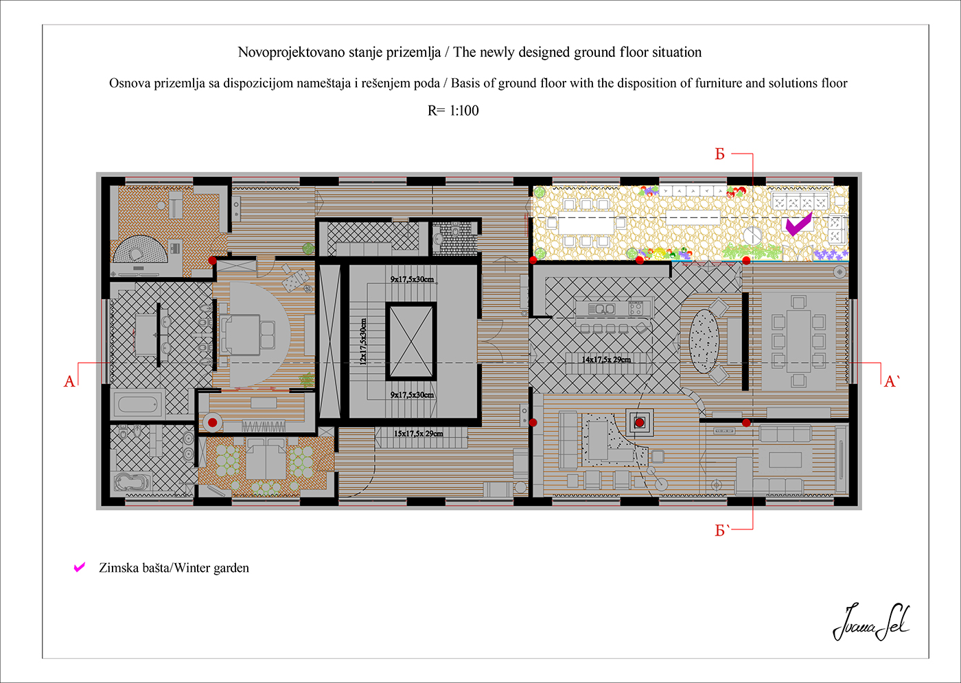 interior design one part of duplex 500m2 winter garden on behance