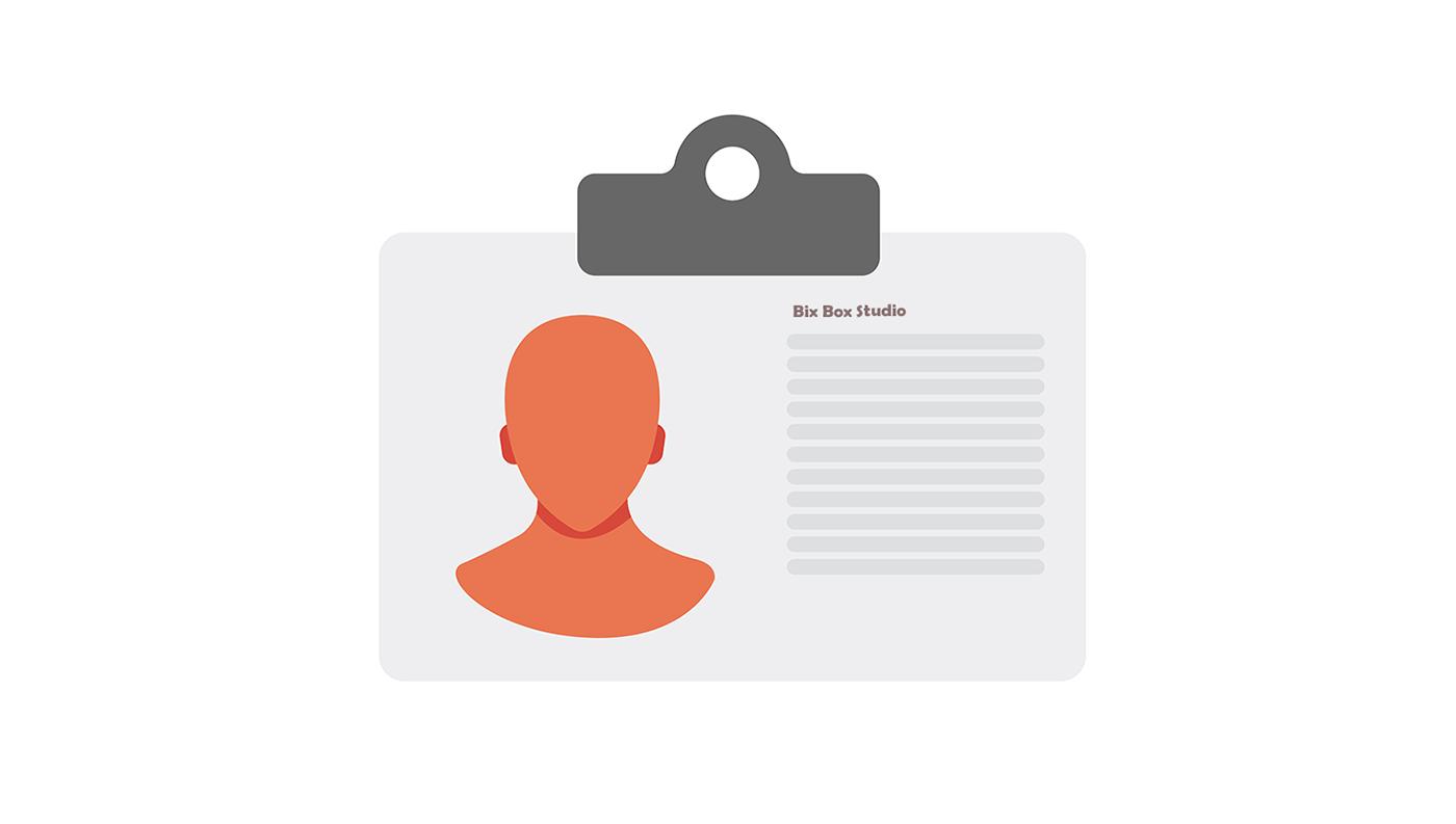 Nurse ID Card Health Icon