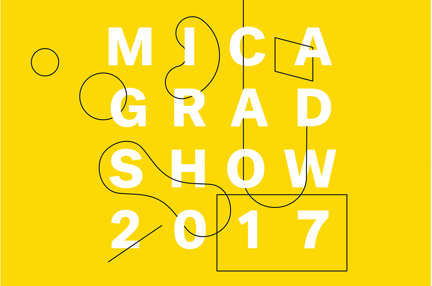 branding  graphic design  yellow identity logo MICA MICA grad show Web Design  print design  adobeawards