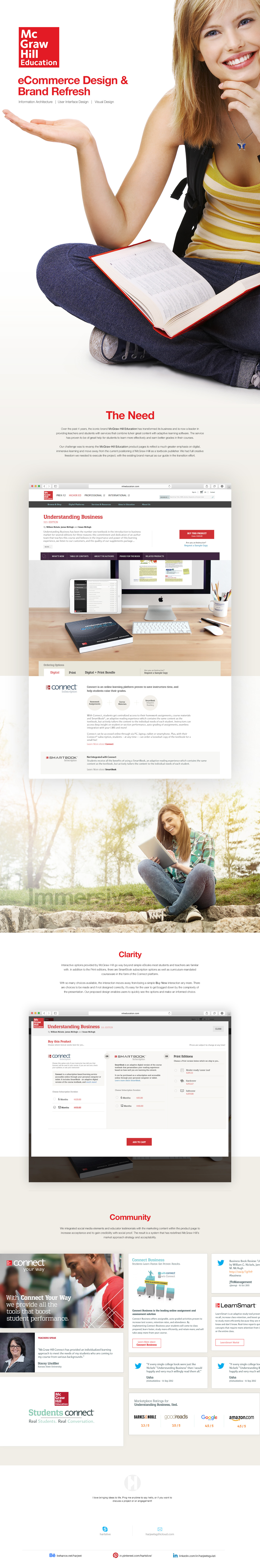 McGraw-Hill eCommerce design UI/UX Product PAge Design buy now eCommerce Web Design
