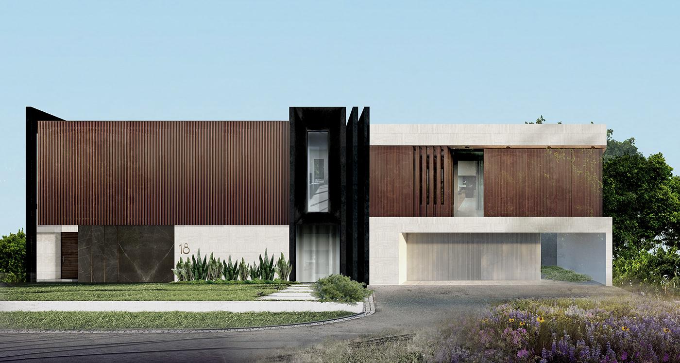 agency architecture cladding design design studio facade Landscape planning rendering wood