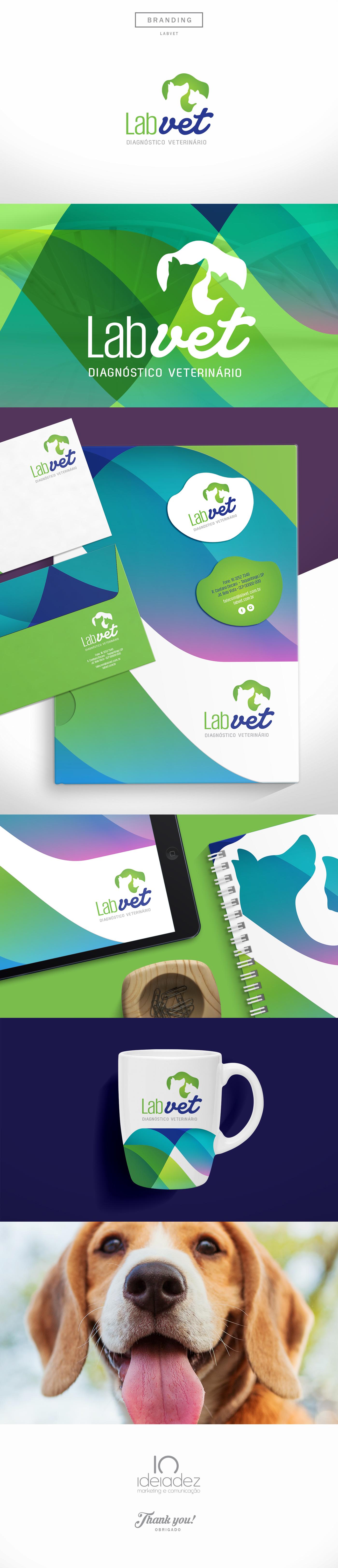 brandingdesign vet lab logo LabBranding brandingmockup Mockup