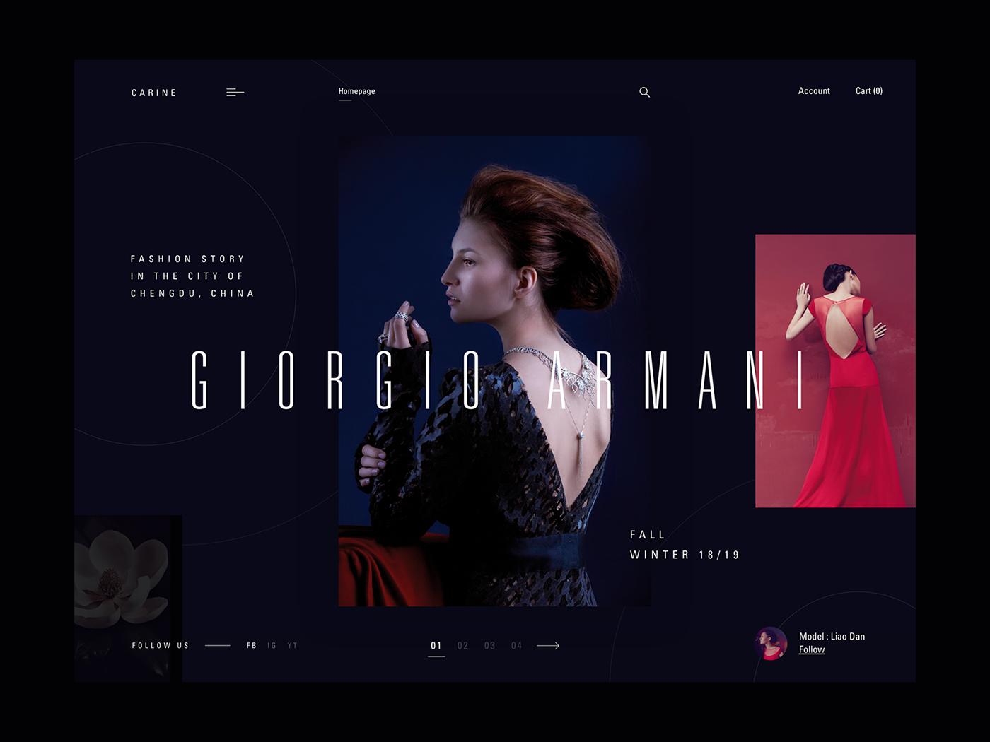 Webdesign ux UI interaction dribbble Fashion  modern typography   uidesign uxdesign