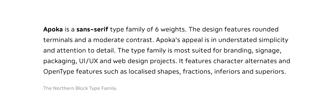 sans-serif branding  Packaging Web Neutral rounded soft The Northern Block Typeface font