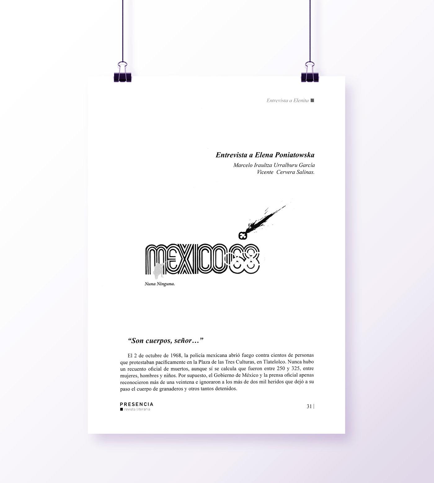 2 de octubre Digital Art  diseño illustracion México 68 revista literária