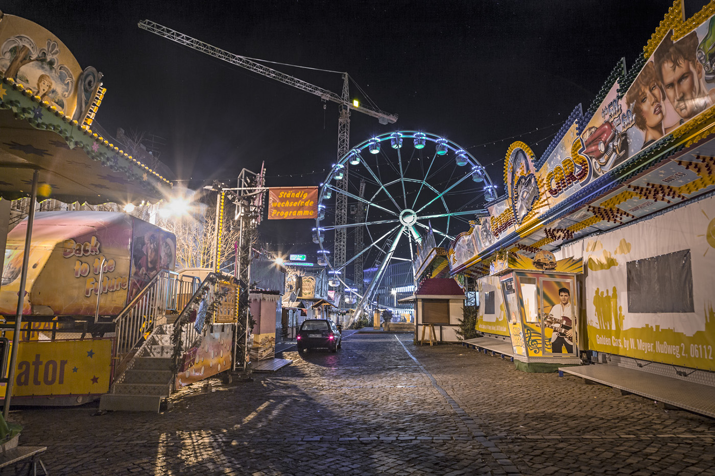 Christmas german Fair night hannover dresden hamburg Halle Weihnachtsmarkt Riesenrad