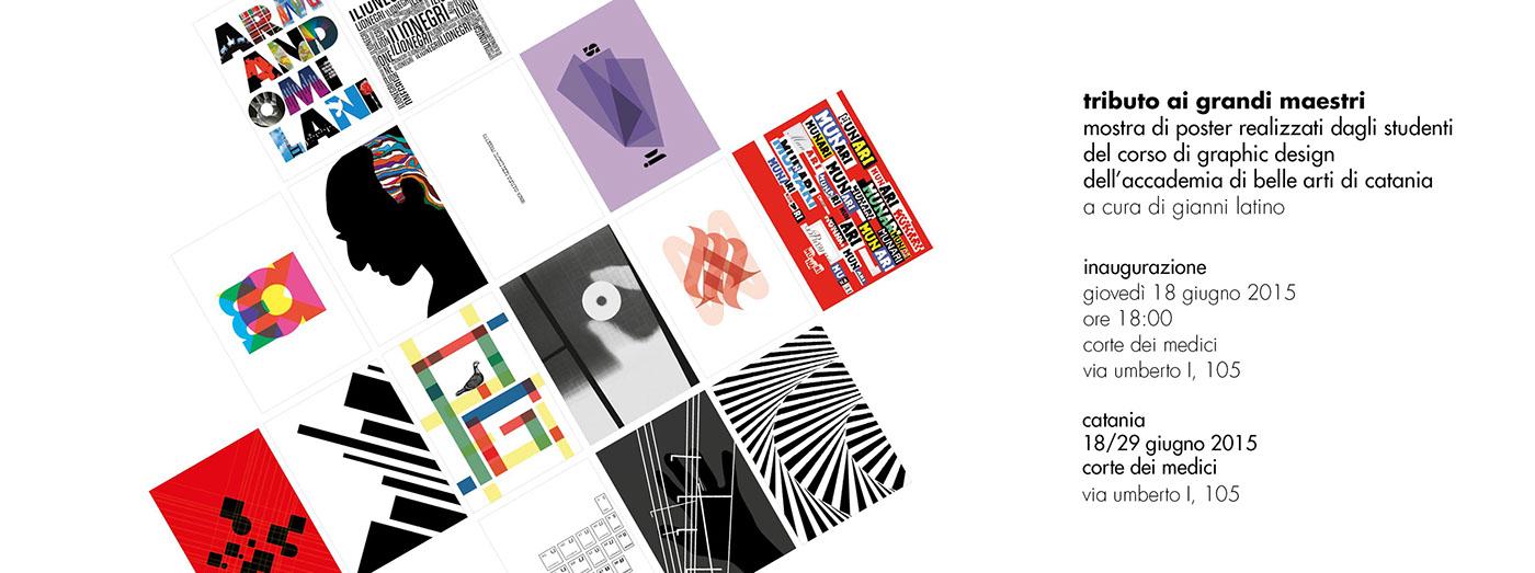 I Grandi Maestri Del Design.Tributo Ai Grandi Maestri Poster Design On Behance