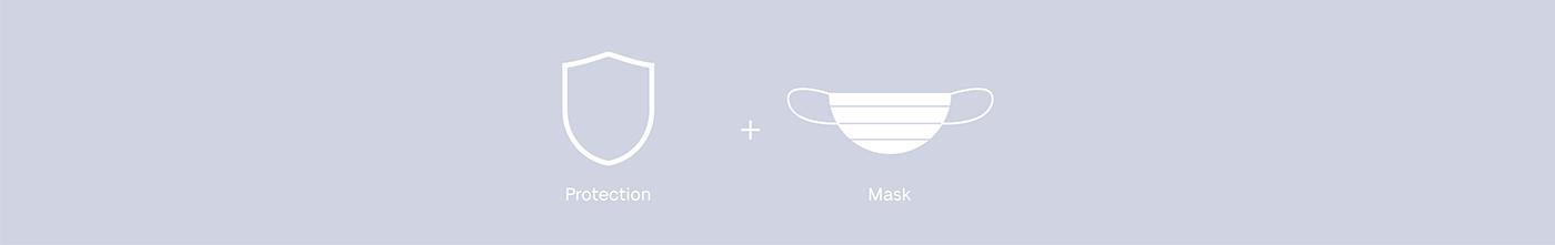 art direction  brand identity branding  editorial gradient graphic design  mask medical pharmacy