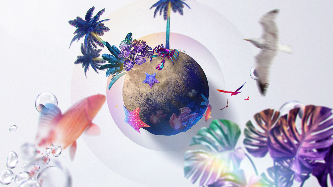 broadcast cinema 4d daily inspiration motiongraphics Nature octane Render summer television
