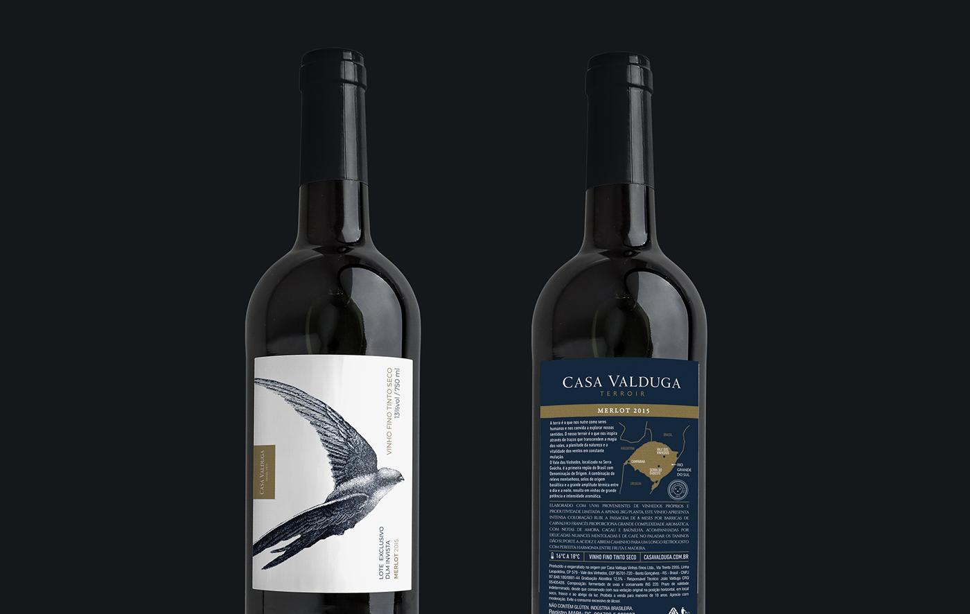 design drink Label swallow wine