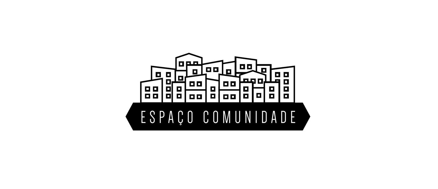 logo brand identity social projects culture favela Brazil design logo