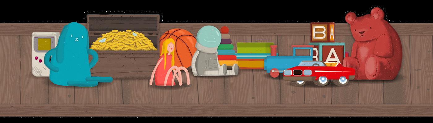 app application ios book kids children cute ebook read toys game