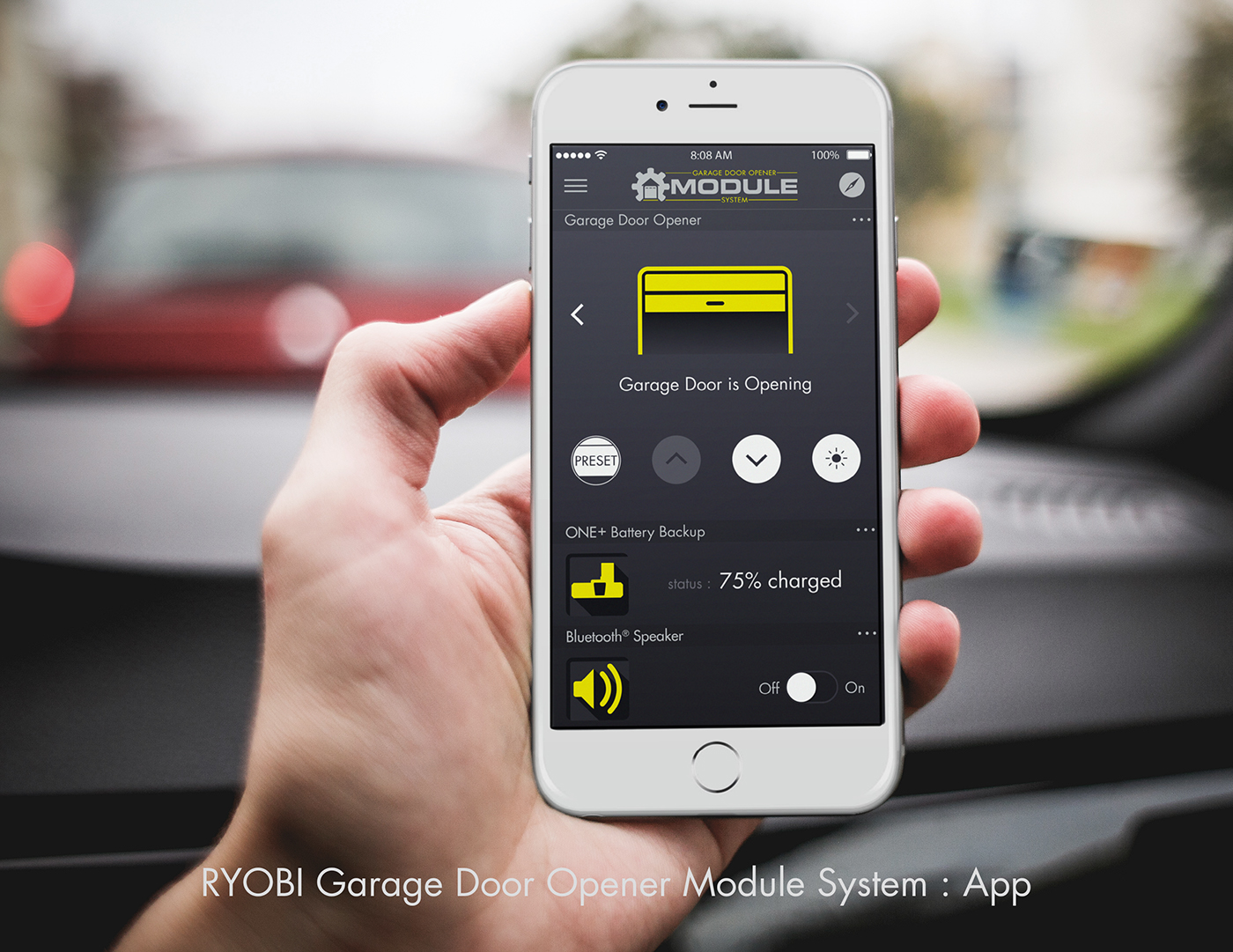 Ryobi Gdo App On Behance