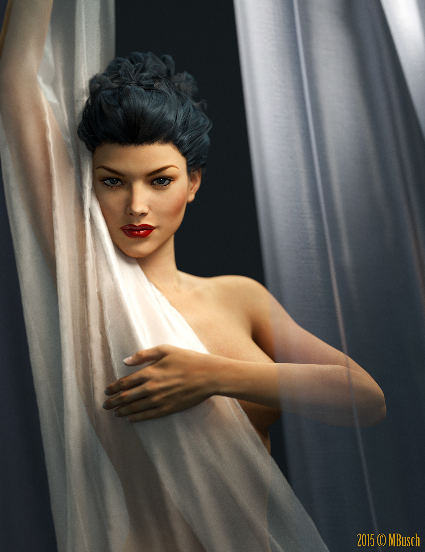 3d Digital Portraits Amp Pin Ups On Behance
