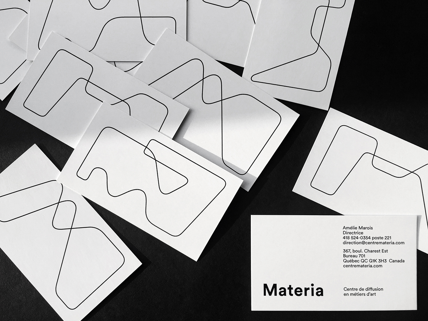 identity logo business card bag