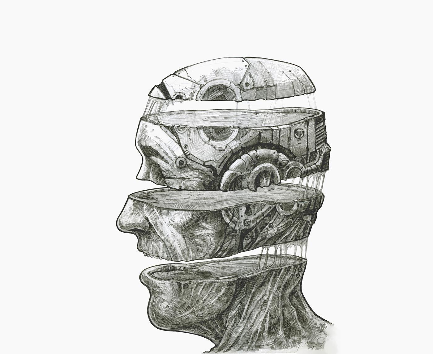 Pencil HB mind split