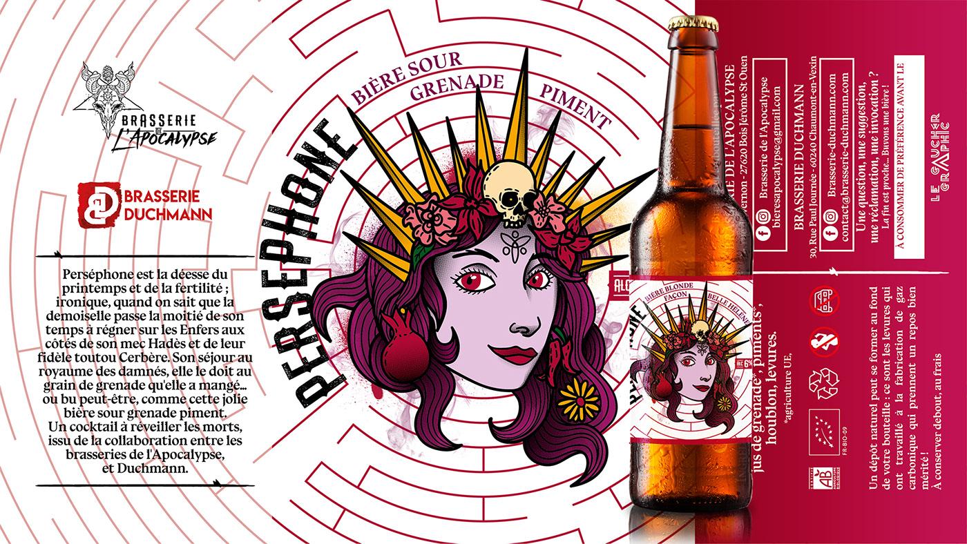 artwork beer bière etiquette ILLUSTRATION  Label Labyrinte mythologie brasserie demon