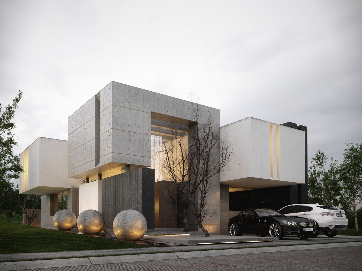La fortaleza on behance for Brick elevation design