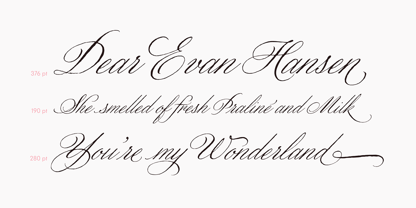 Calligraphy   font sudtipos Meave Stationery penmanship type design