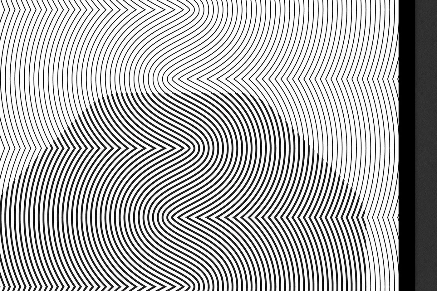 gallery identity logo poster print optical b&w video motion