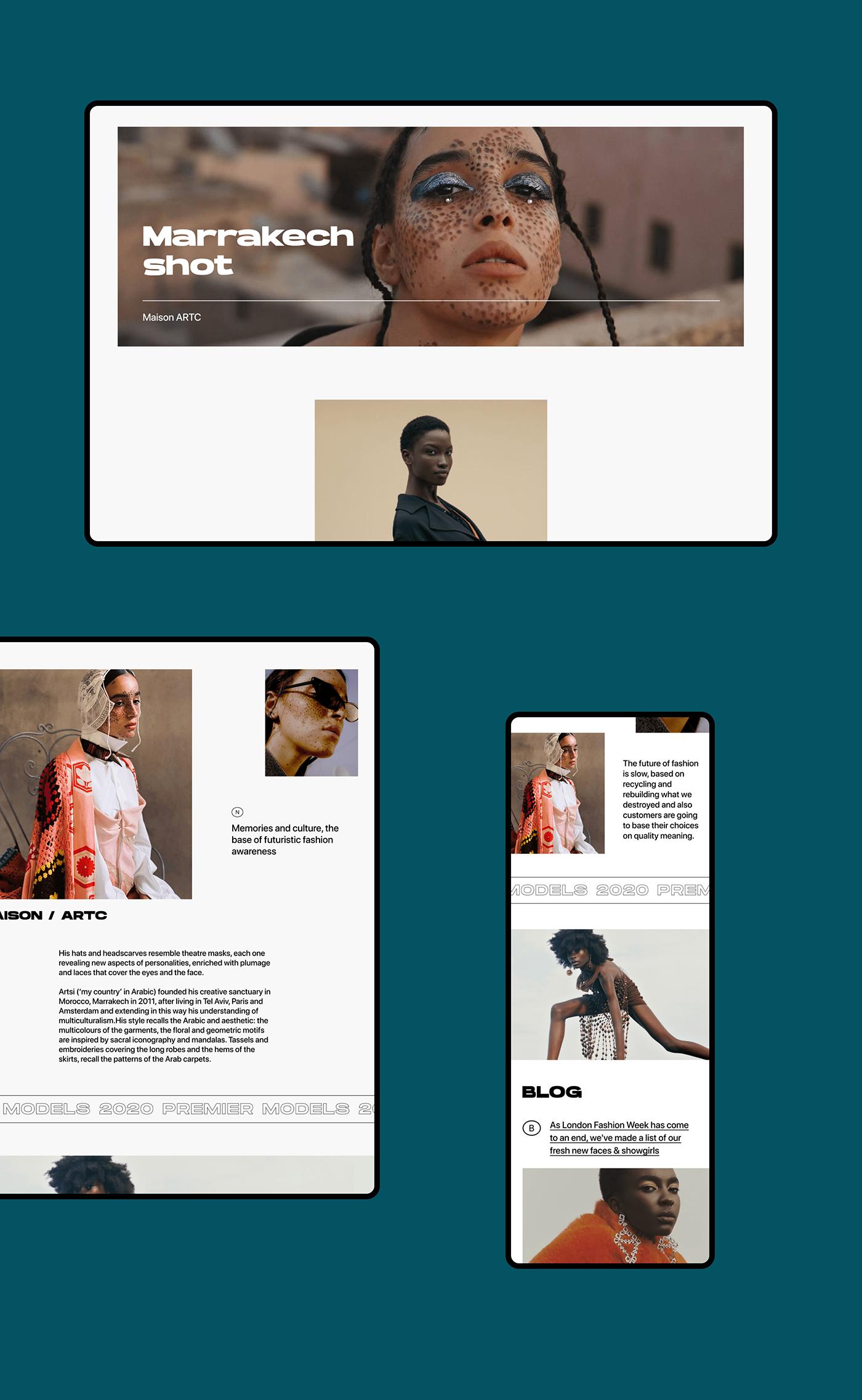 Fashion  interaction minimal model premier stock UI ux ux/ui xD