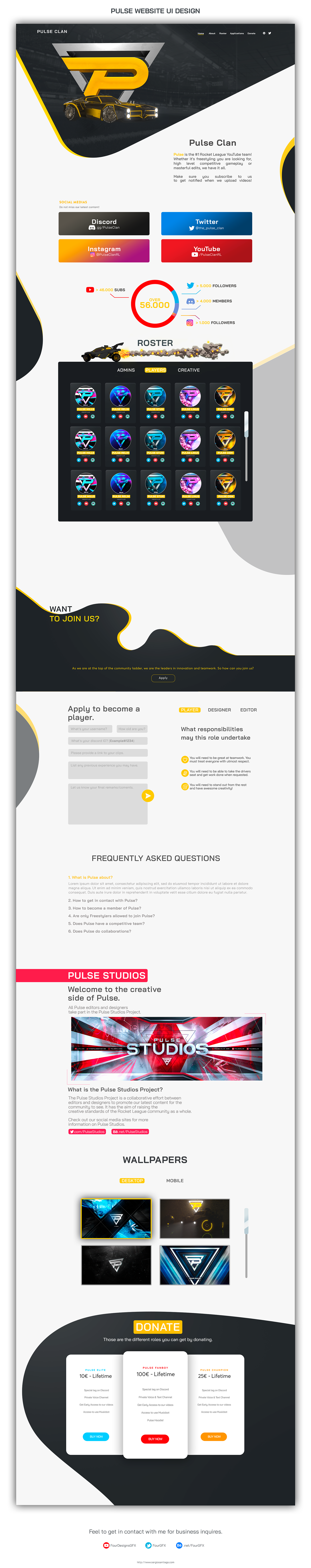 UI Website Design UX design