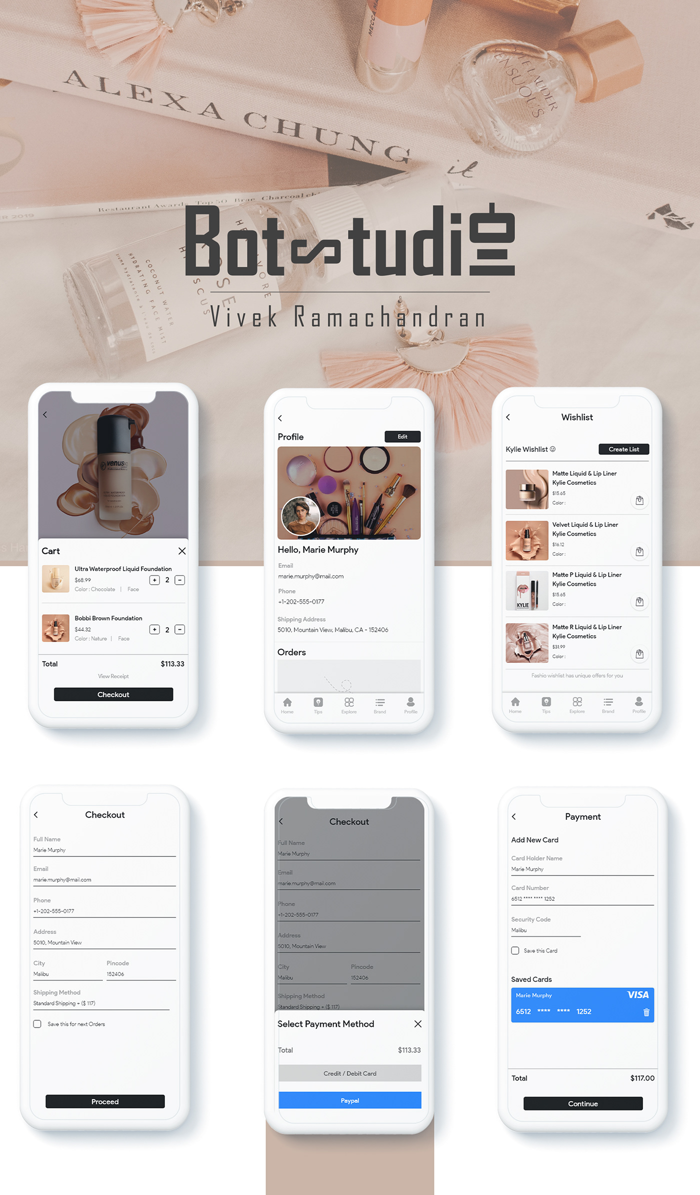 app design Cosmetic Fashion  makeup product design  UI ui kit UI/UX uidesign uikit