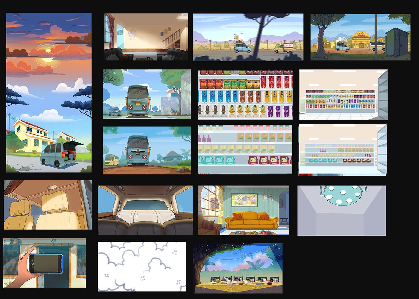 animation ,Christmas,kenya,ILLUSTRATION ,africa,2DAnimation,toonboom,wacom,Cintiq