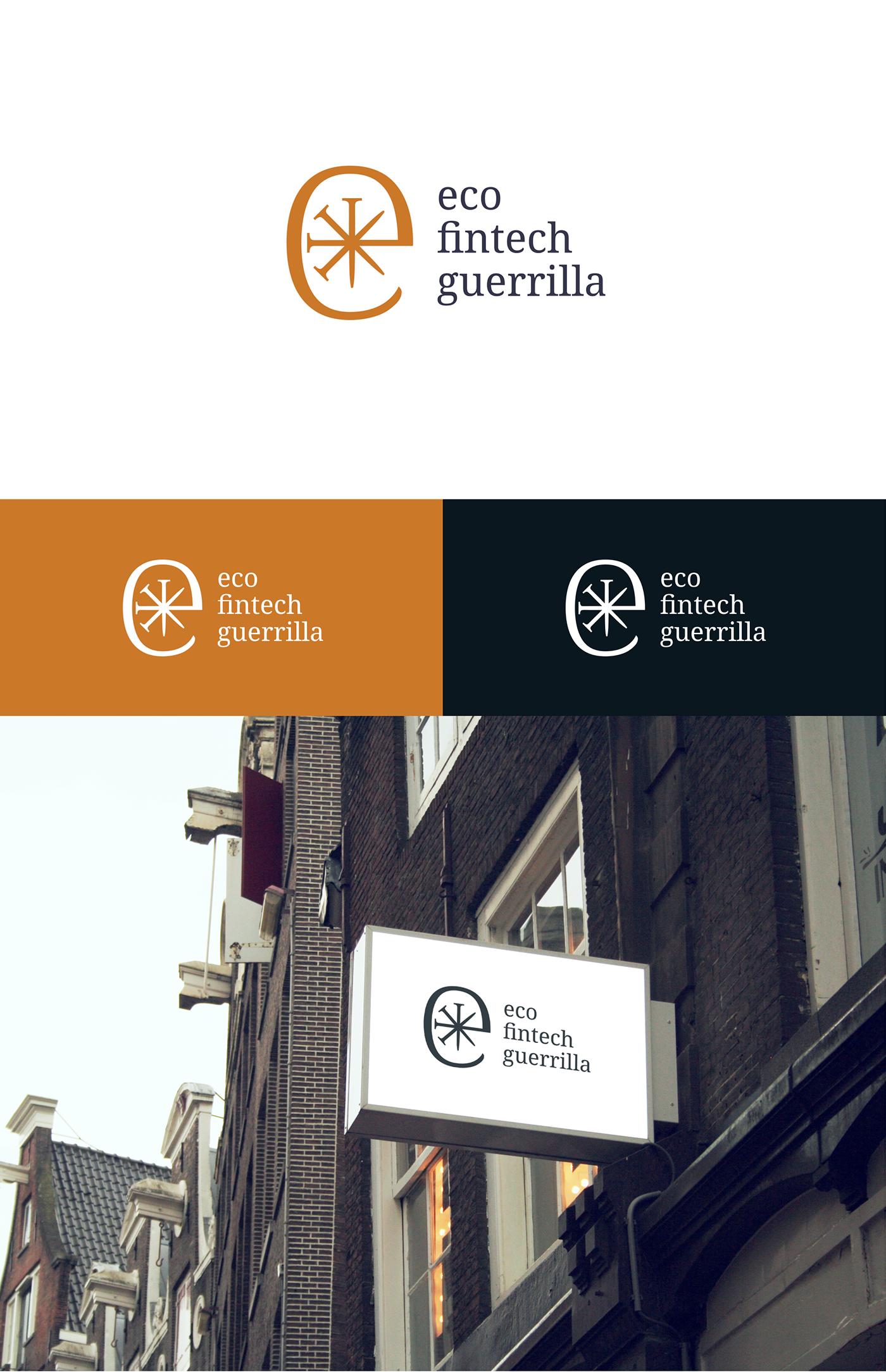 logo branding  Fintech eco guerrilla