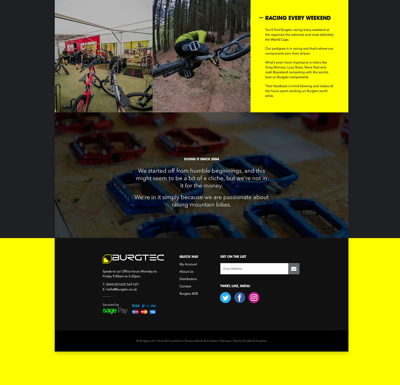 Web Design  UI ux mountain bikes MTB downhill sports