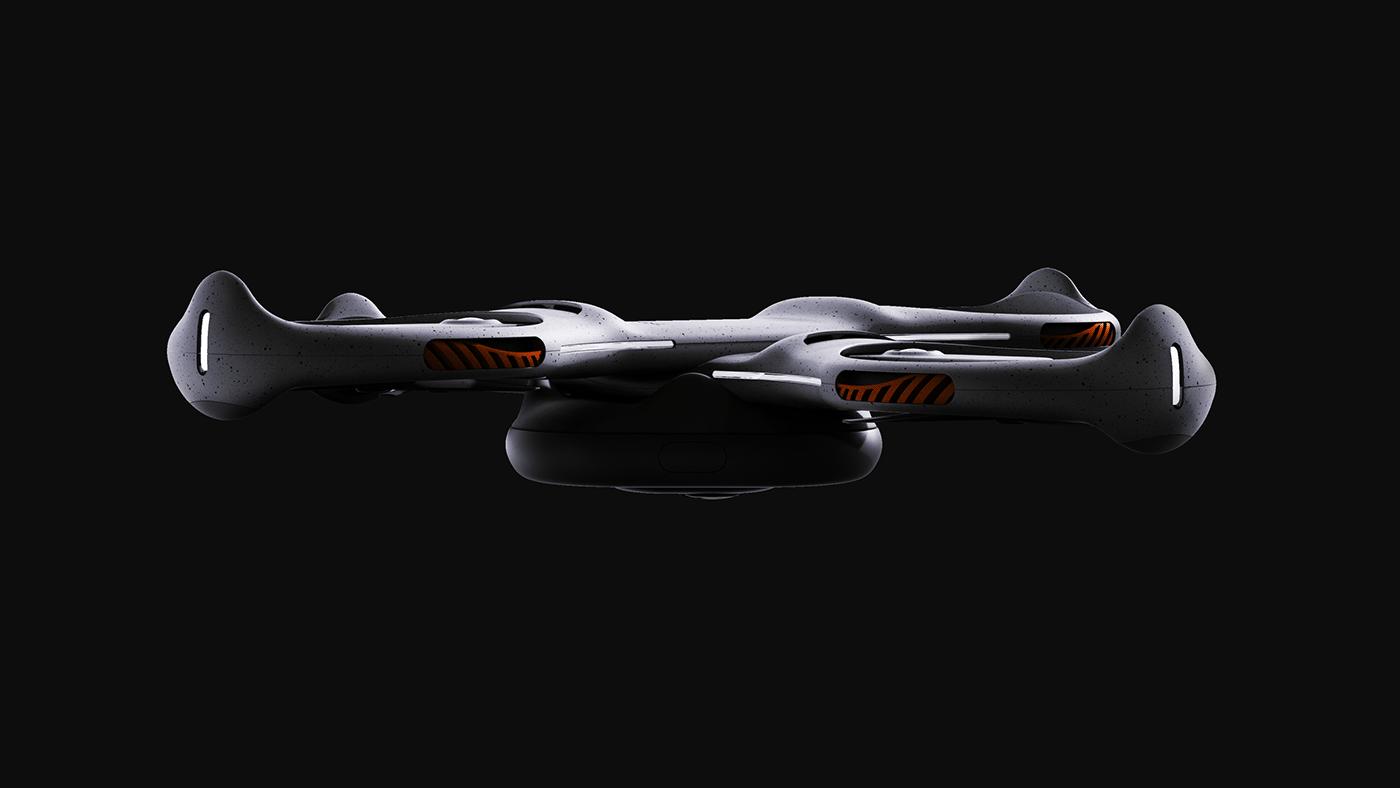 Autonomous drone industrialdesign productdesign runners running reddot sports ai controller