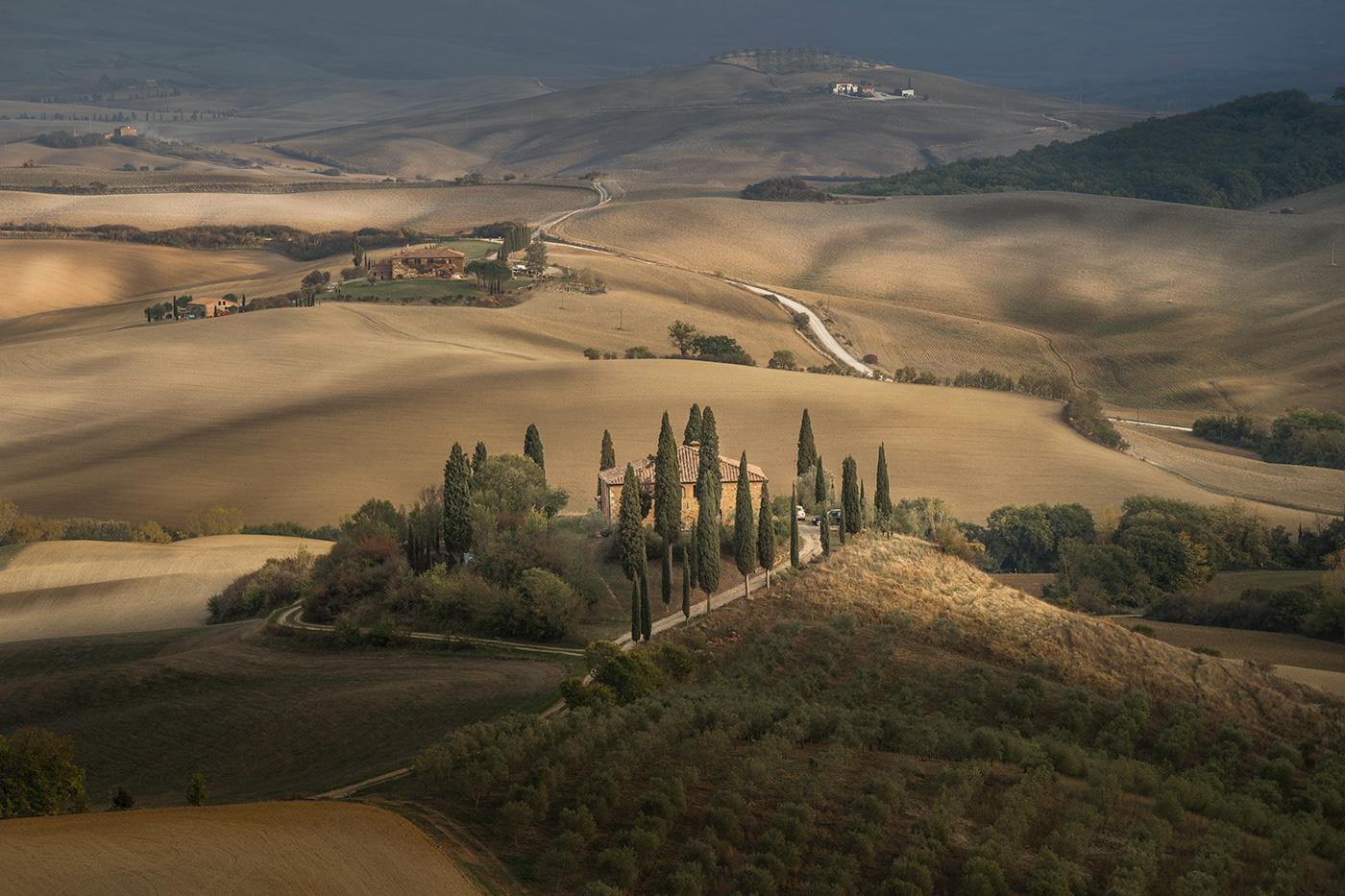 Landscape Tuscany Italy Photography  Travel Nature landscape photography sunset hills Val dOrcia