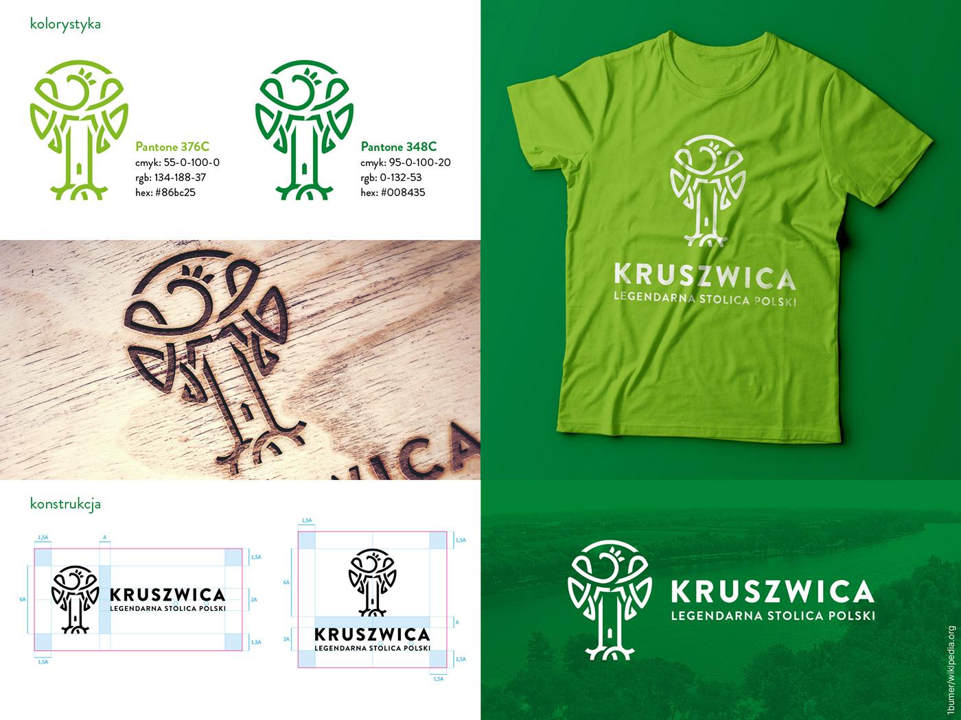 eagle green heritage identity kruszwica logo tower town Tree